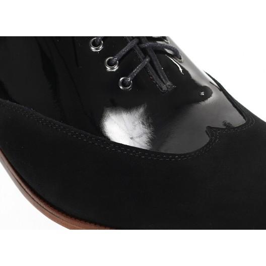 Pánske kožené extravagantné topánky čierne ID:596
