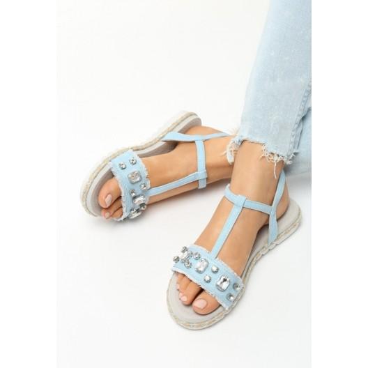 Luxusné sandále modrej farby