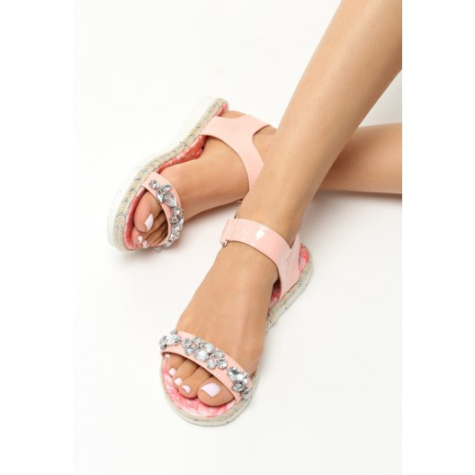 Dievčenské sandálky na leto v ružovej farbe