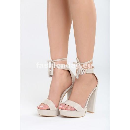 Sandále s hrubým opätkom