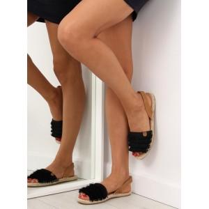 Letná dámska obuv v čiernej farbe