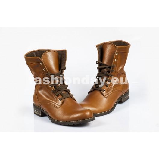 Dámske topánky - Hnedé šnurovacie
