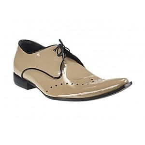 Pánske kožené extravagantné topánky béžové