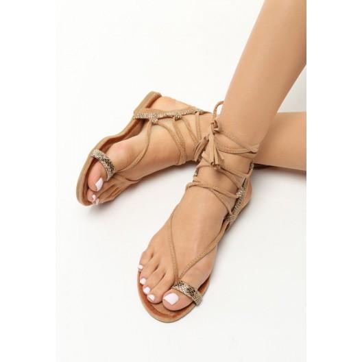 Gladiátorky sandále v hnedej farbe