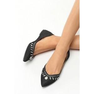 Kamienkové balerínky čiernej farby