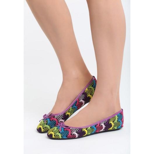 Dievčenské balerínky fialovej farby