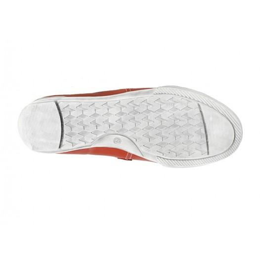 Pánske kožené športové topánky červené PT146