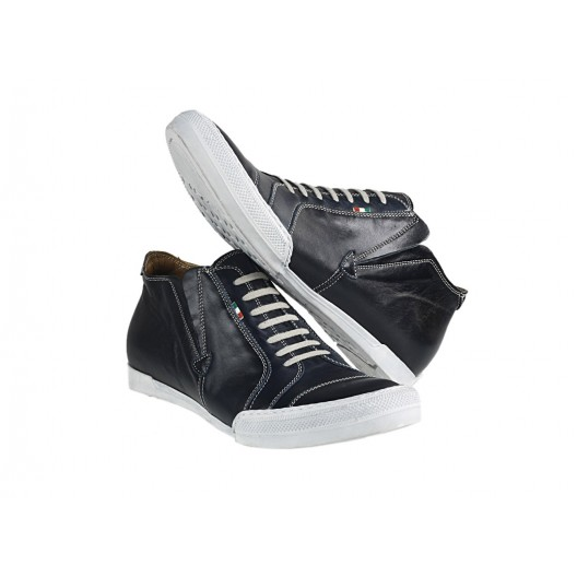 Pánske kožené športové topánky modré PT147