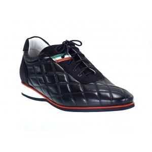 Pánske kožené športové topánky modré ID:590