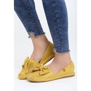 Espadrilky dámske v žltej farbe s pleteným vrkočkom