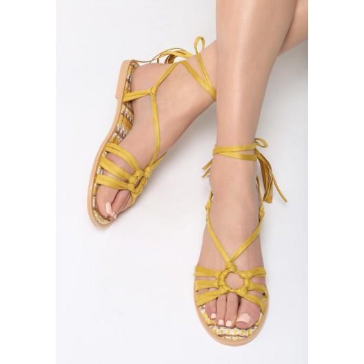Sandále na leto v žltej farbe