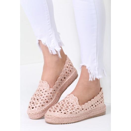 Letná dámska obuv v ružovej farbe