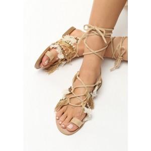 Sandále s viazaním okolo nohy