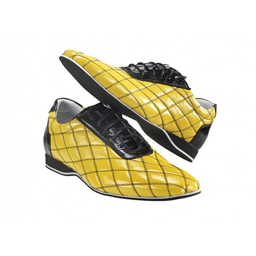 Pánske kožené športové topánky žlté ID:483
