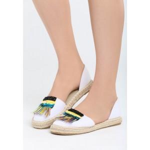 Dámske letná obuv v bielej farbe