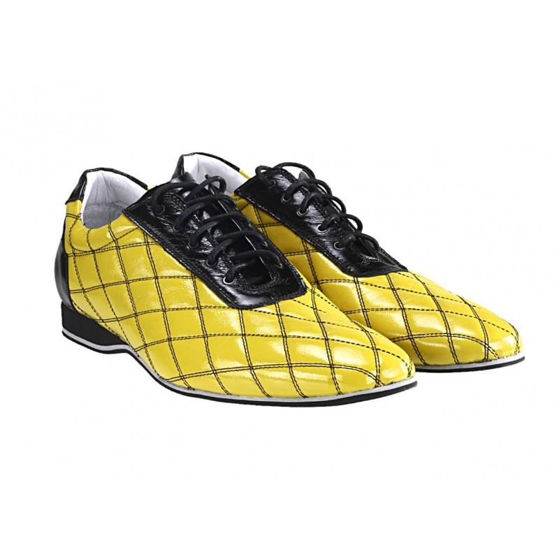 371f51b3e901 Pánske kožené športové topánky žlté - fashionday.eu