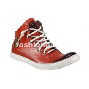 Pánske kožené športové topánky červené