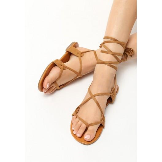 Gladiátorky sandále hnedej farby