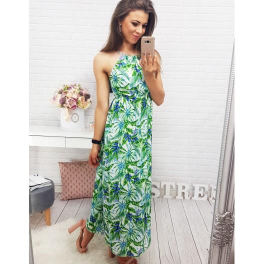 Letné šaty zelenej farby