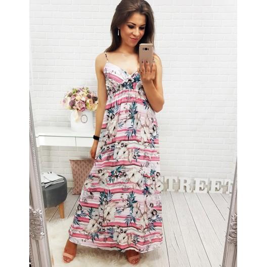 Krásne letné šaty ružovej farby