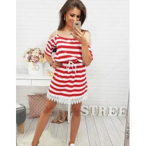 Elegantné šaty krátke červenej farby