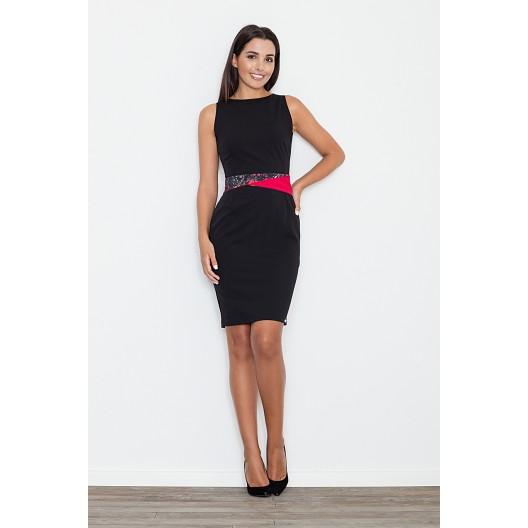 Elegantné šaty pre dámy čiernej farby
