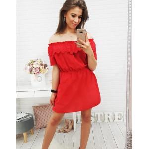 Krátke červené šaty bez remienok