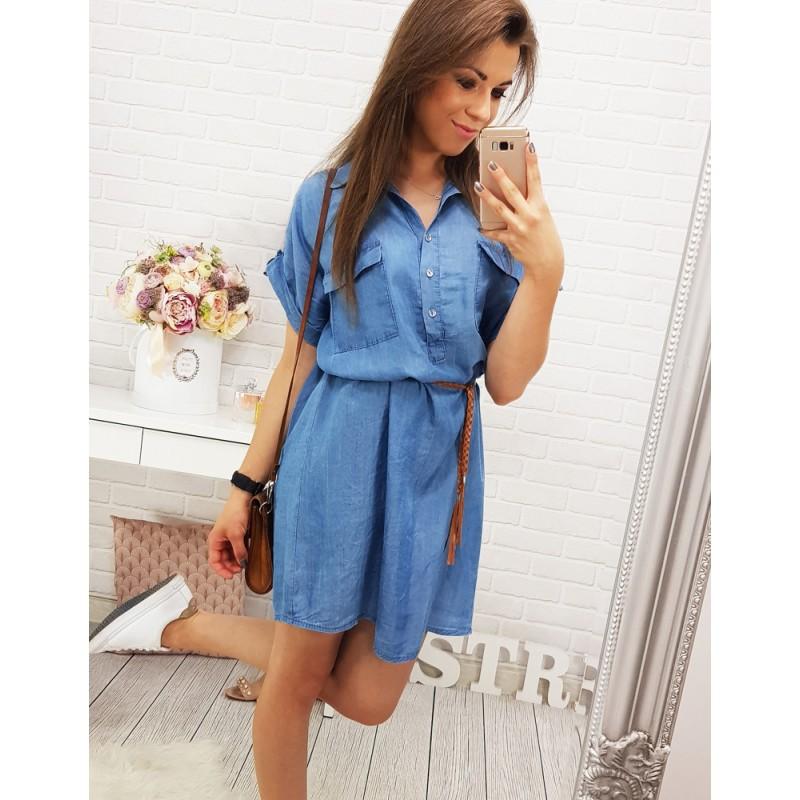 9798e6e0d Dievčenské letné šaty modrej farby