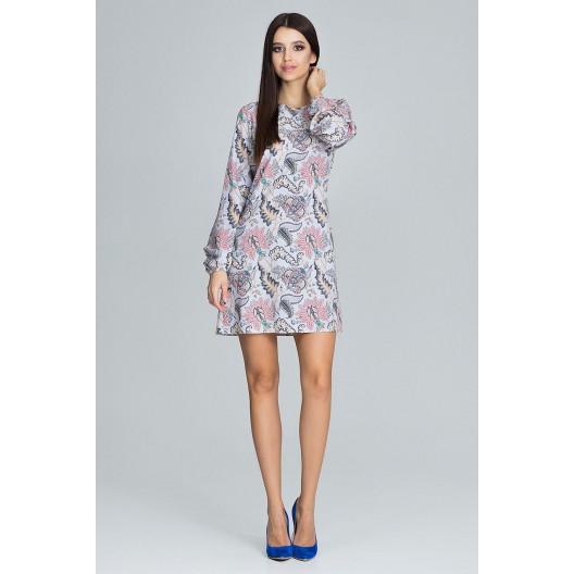 Letné šaty s kvetovaným vzorom