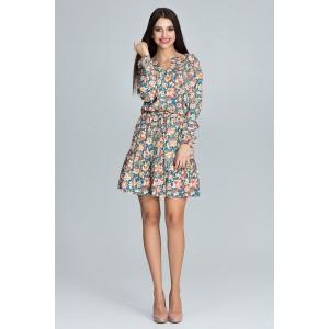 Krátke šaty pre dámy s kvetmi