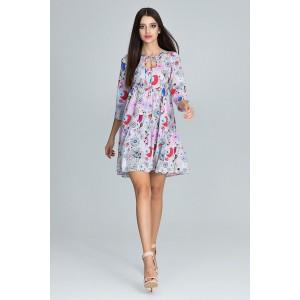 Dievčenské šaty na leto so vzorom