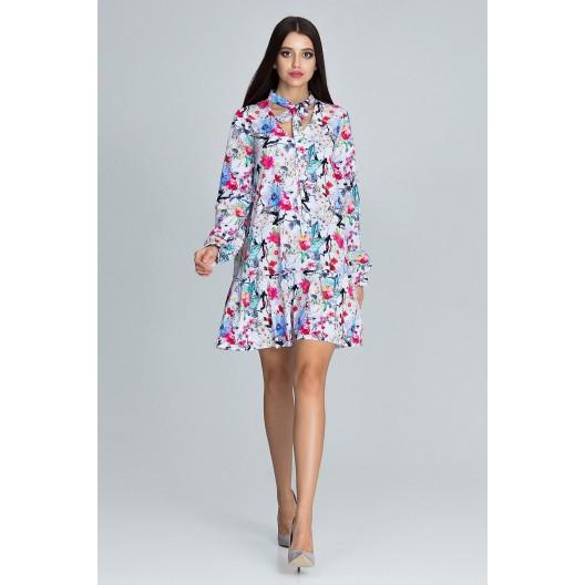 Letné šaty krátke s kvetmi