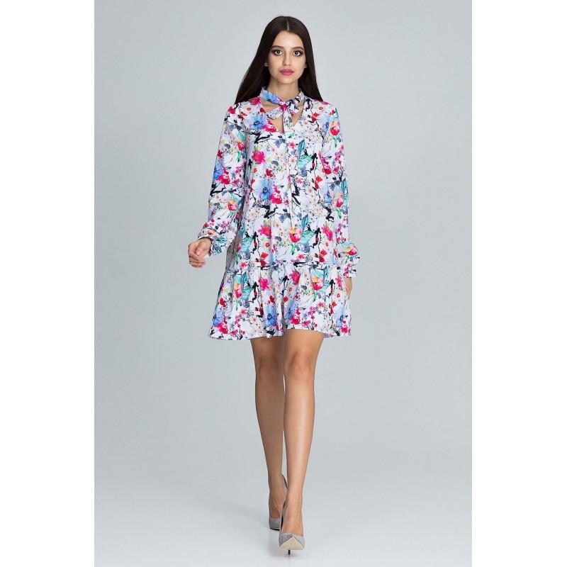 51bf2857ba23 Letné šaty krátke s kvetmi