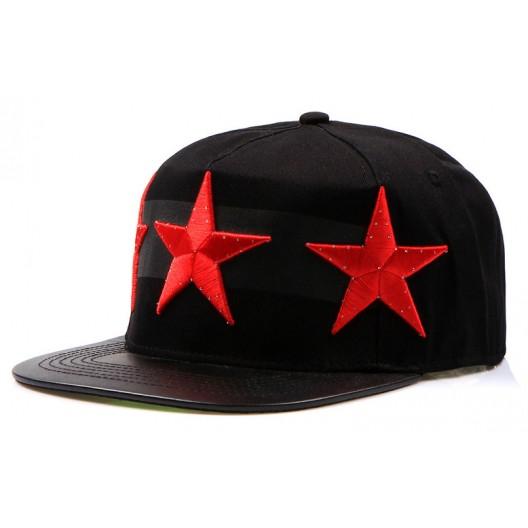Šiltovky snapback s červenými hviezdami
