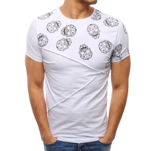 Biele tričko s krátkym rukávom
