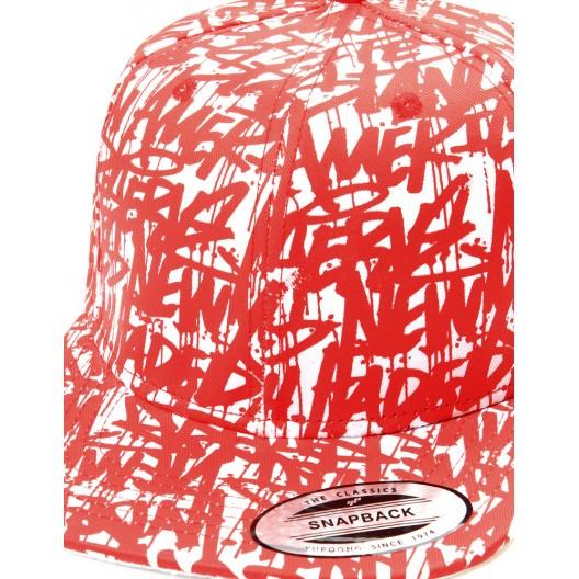 Šiltovky snapback červenej farby pre pánov
