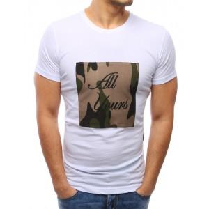 Biele trička pánske s potlačou