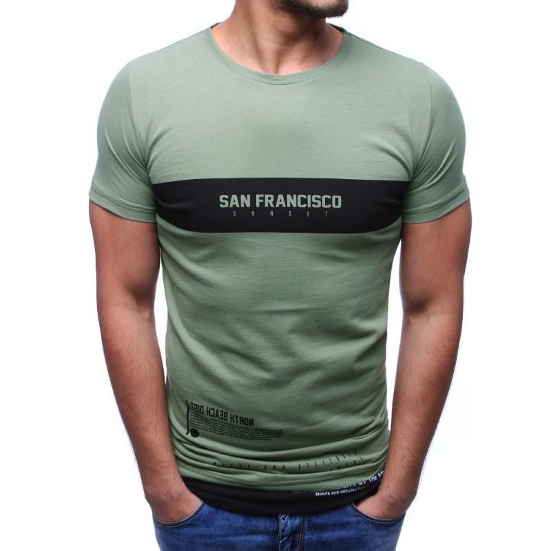 fabf364f375e Tričko s nápisom zelenej farby