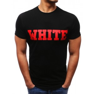 Čierne tričko s červeným nápisom