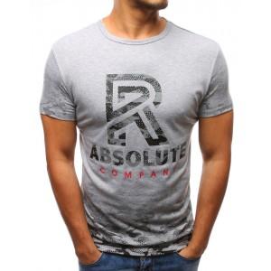 Tričko s krátkym rukávom sivej farby