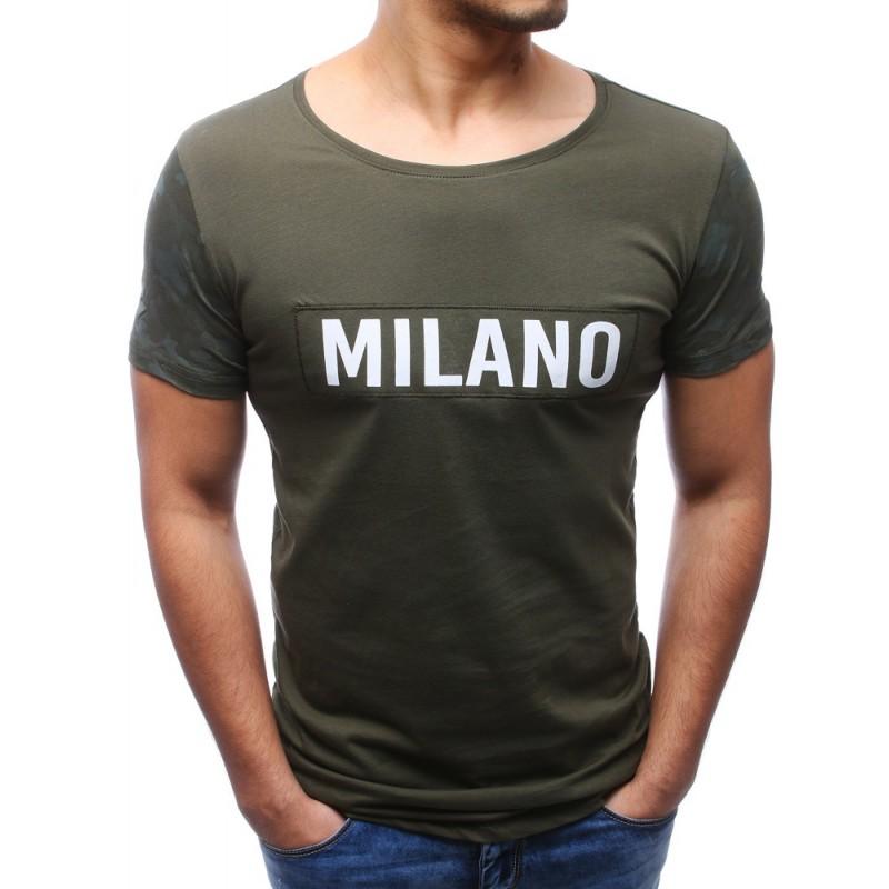 7f3e57c83def Pánske tričká krátky rukáv zelenej farby
