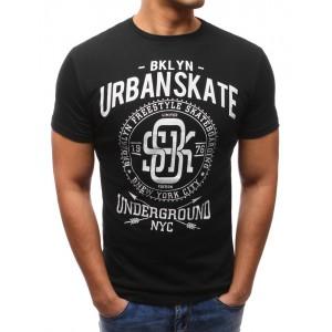 Čierne tričko s bielou potlačou